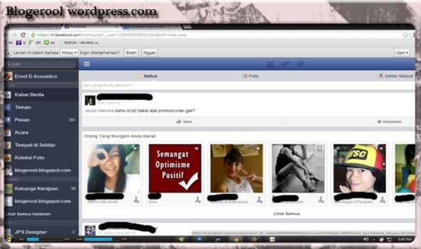 mobile view facebook on dekstop