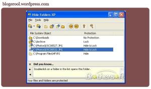 hide folder XP